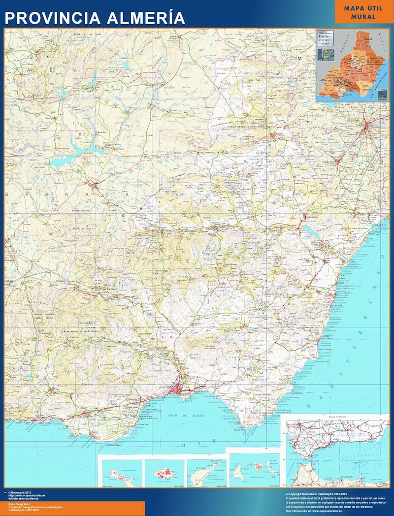 Provincias Mapa De España Carreteras.Mapa Provincia Almeria