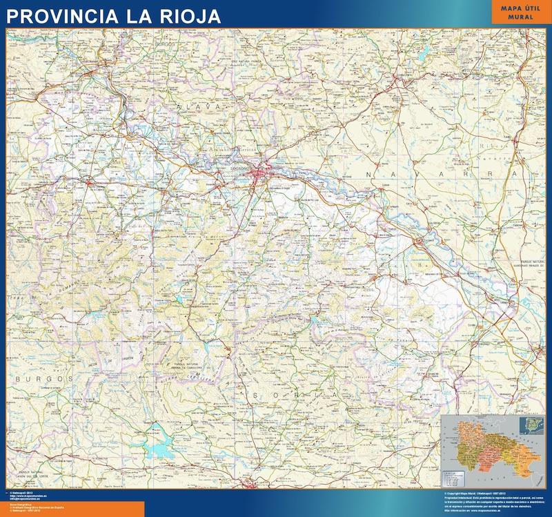 Mapa Provincia Ciudad Real.Mapa Provincia La Rioja