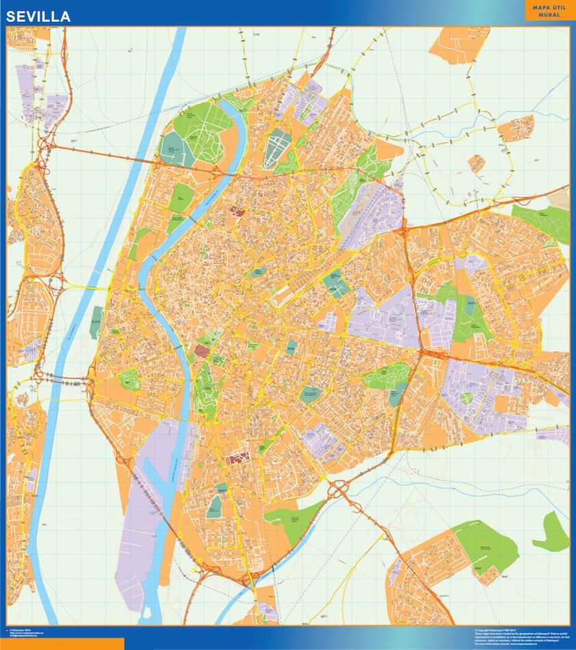 Mapa De Sevilla Capital Callejero.Mapa Sevilla Callejero