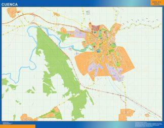 Mapa Cuenca callejero enmarcado plastificado