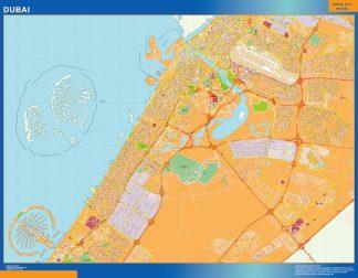 Mapa Dubai enmarcado plastificado