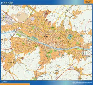 Mapa Firenze enmarcado plastificado