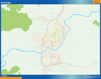 Mapa Kaduna en Nigeria enmarcado plastificado
