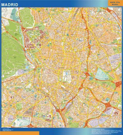 Mapa Madrid callejero enmarcado plastificado