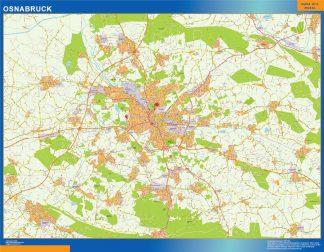 Mapa Osnabruck en Alemania enmarcado plastificado