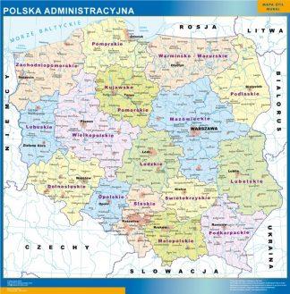 Mapa Polonia enmarcado plastificado