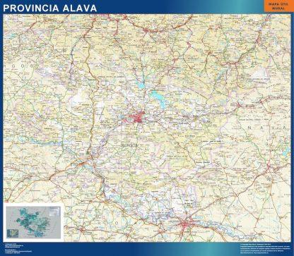 Mapa Provincia Alava enmarcado plastificado