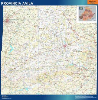 Mapa Provincia Avila enmarcado plastificado