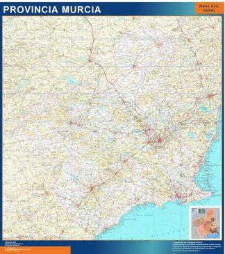 Mapa Provincia Murcia enmarcado plastificado