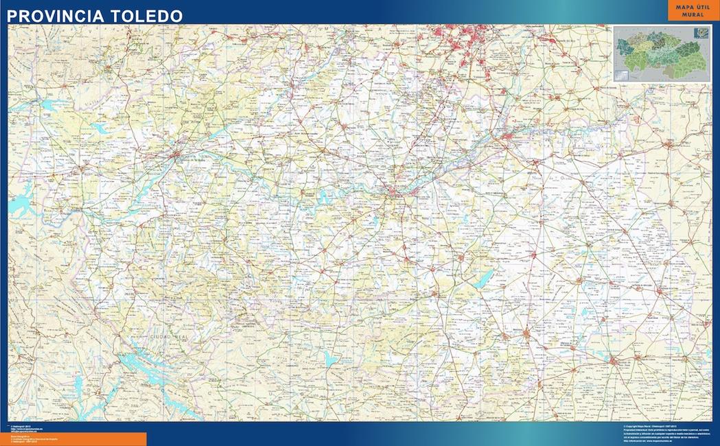 Mapa Provincia Toledo Carreteras.Mapa Provincia Toledo Plastificado Velleda