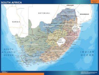 Mapa Sudafrica enmarcado plastificado