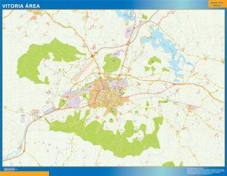 Mapa carreteras Vitoria Area enmarcado plastificado