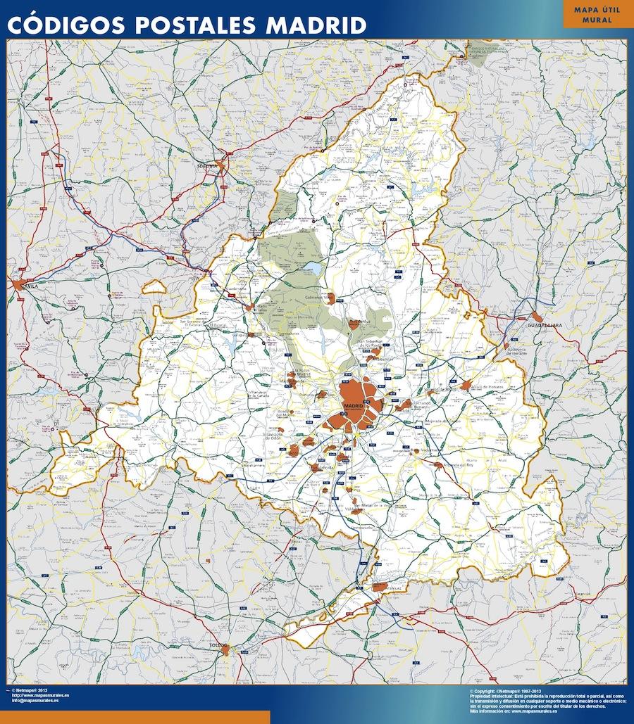 Codigos Postales Barcelona Mapa.Mapa Codigos Postales Madrid Detraiteurvannederland