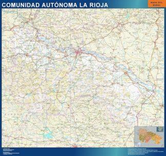 Mapa de La Rioja enmarcado plastificado