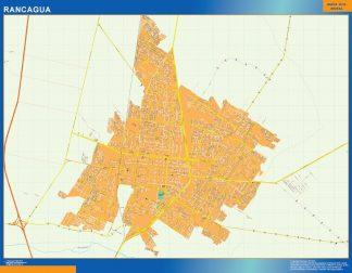 Mapa de Rancagua en Chile enmarcado plastificado