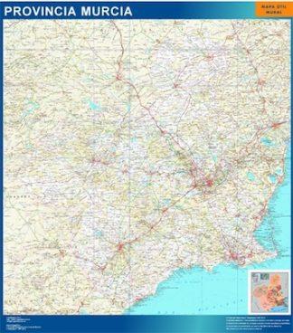 Mapa de Region Murcia enmarcado plastificado