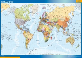 Mapamundi Actualizado enmarcado plastificado