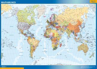 Mapamundi Español enmarcado plastificado