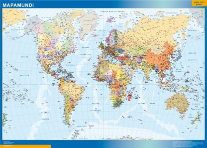 Mapamundi Estados Usa enmarcado plastificado
