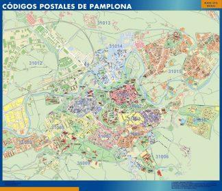 Pamplona códigos postales enmarcado plastificado