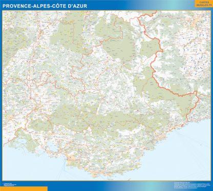 Region Provence-alpes cote azur enmarcado plastificado
