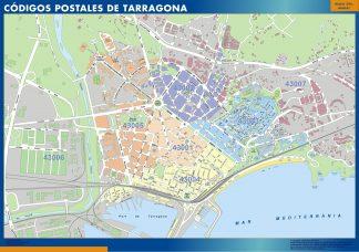 Tarragona códigos postales enmarcado plastificado